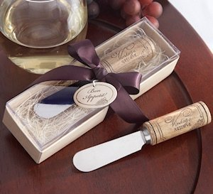 Spreader Wedding Favors with Wine Cork Handle image