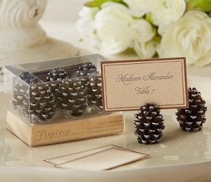 Pine Cone Place Card Holders (Set of 6) image