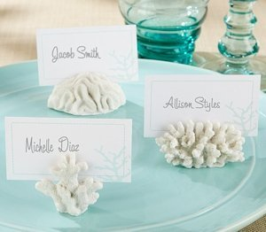 White Sea Coral Place Card Holders (Set of 6) image