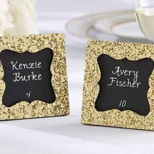 All that Glitters Gold Square Frame with Chalkboard Insert image
