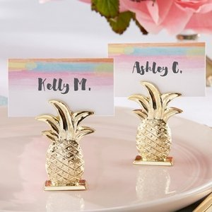 Gold Pineapple Place Card Holder (Set of 6) image