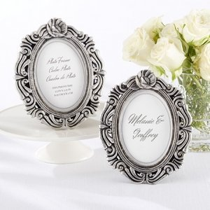 Antiqued Victorian Photo Frame Favors image