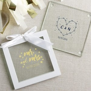Personalized Under the Stars Glass Coaster Favors (Set of 12 image