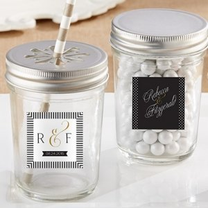 Personalized Classic Mason Jar Favors (Set of 12) image