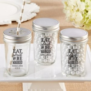 Personalized Eat Drink & Be Married Mason Jar (Set of 12) image