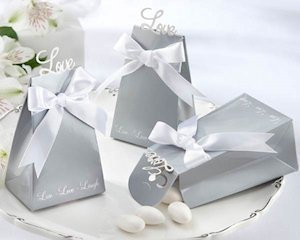 'Express Your Love' Silver Favor Boxes (Set of 24) image