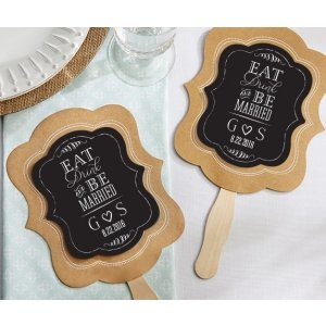 Personalized Eat Drink & Be Married Fan Favors (Set of 12) image