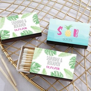 Personalized Pineapples and Palms Matchboxes (Set of 50) image