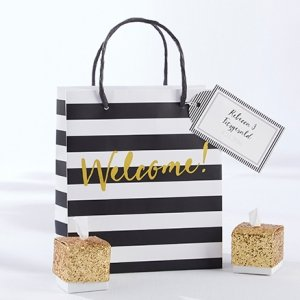 Classic Black And White Striped Welcome Bag (Set of 12) image