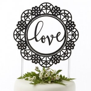 Love Lasercut Cake Topper image