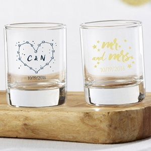 Personalized Under the Stars Shot Glass Favors image