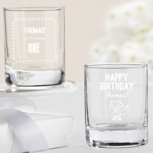 Personalized Woodland Birthday Theme Shot Glass/Votives image