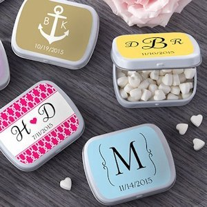 Custom Monogram Mint Tin Favors (165 Designs) image