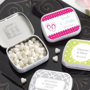 Personalized Summer Wedding Favor Mint Tins (165 Designs) image