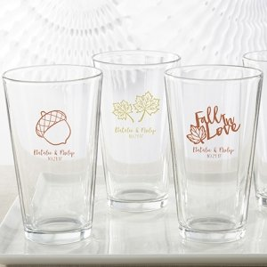 Personalized Fall Design Pint Glass image