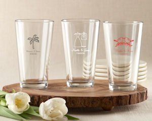 Personalized Wedding Favors Pint Glasses image