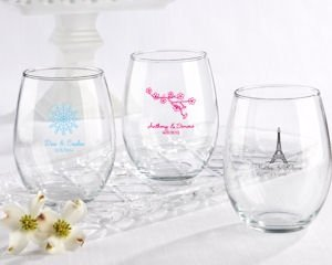 Personalized 15 oz Stemless Wine Glasses Favors image