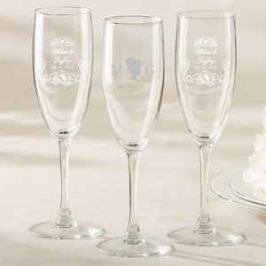 Personalized English Garden Champagne Flute image