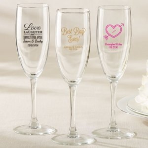 Personalized Champagne Flute Wedding Favors image