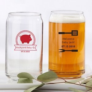 Personalized BBQ Can Glass Favors image