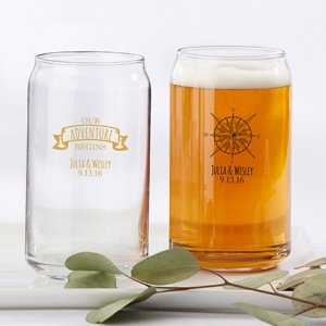 Personalized Travel and Adventure Can Glass image