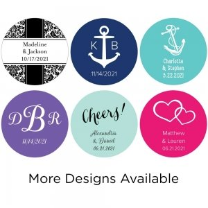 Personalized Round Stickers (Set of 48 - Many Options) image