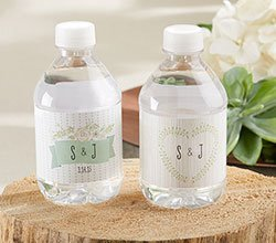Rustic Theme Personalized Water Bottle Labels image