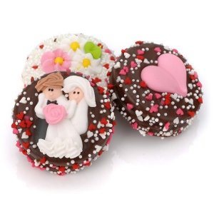 Chocolate Covered Wedding Oreo Cookie Favors image