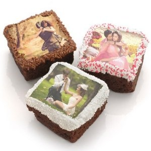 Chocolate Covered Wedding Photo Brownie Favors image