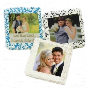 Chocolate Covered Wedding Half Graham Photo Favors image