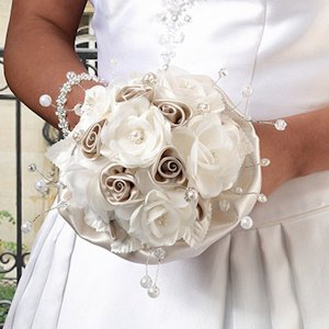 Taupe Rose Bridal Bouquet image