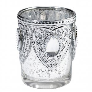 Silver Hearts Tealight Cups (Set of 3) image