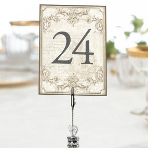 Vintage Scroll Gold Table Numbers image