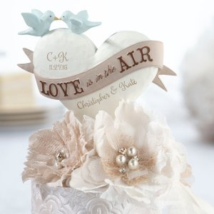 Love Is In The Air Wedding Cake Top image