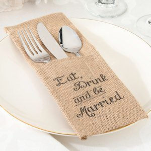 Eat- Drink and Be Married Silverware Holders (Set of 4) image