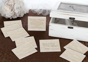 Country Lace Wish Cards (Set of 48) image