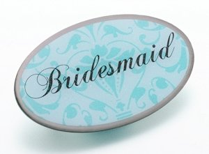 Bridesmaid Pin -Oval Aqua image