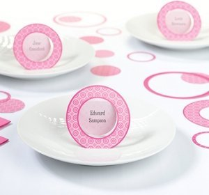 Pink Circle Place Cards (Set of 12) image