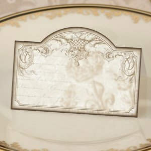 Vintage Scroll Gold Place Cards (Set of 24) image