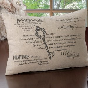 Christian Wedding Key Ring Pillow image