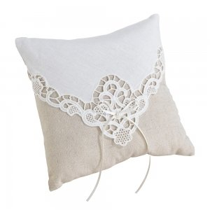 Country Lace Ring Pillow image