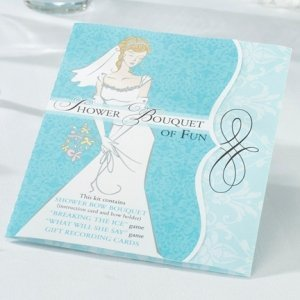 Shower Bouquet of Fun Kit (Games & Bow Bouquet Holder) image