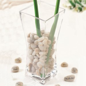 Signing Stones with Glass Vase (Alternative to Guest Books) image