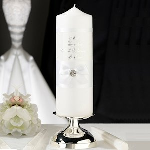 White Lace Candle Set image