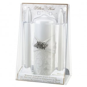 White Lace Packaged Candle Set image