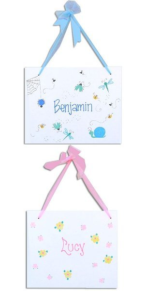 Boys or Girls Personalized Wall Hanging image