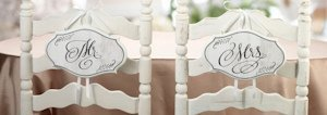 Vintage Style Mr. or Mrs. Chair Signs image
