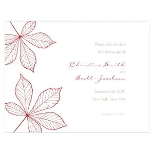 Autumn Leaf Save the Date Cards (Set of 8) image