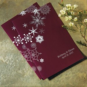 Personalized Winter Finery Wedding Program Paper image