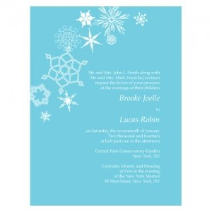 Winter Finery Wedding Invitations (4 Pack - 9 Colors) image